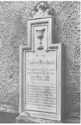 Grabstein von Thomas Bornhauser
