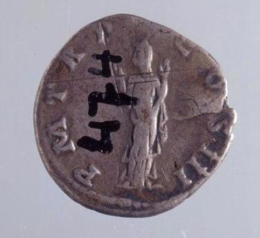 Hadriandenar Rückseite