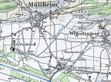 Müllheim 1980 ohne Autobahn