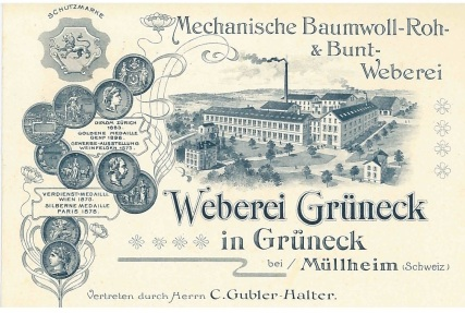 Weberie Grüneck_Postkarte