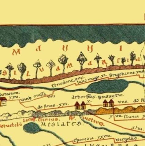 Ausschnitt aus der Tabula Peutingeriana