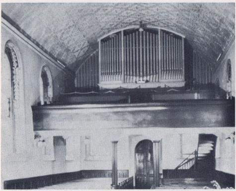 Innenansicht der Kirche Muellheim Westseite vor 1978