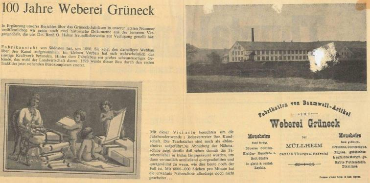 100 Jahre Weberei Grüneck
