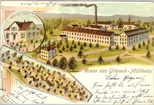 Grüneck Postkarte 1906