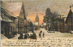 Hauptstrasse im Winter