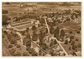 Grüneck, Fabrik, Luftbild