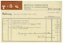 Rechnung, Rauscher, Spengler, 1938