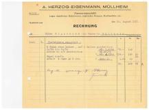 Rechnung, Herzog, Zimmerei 1931