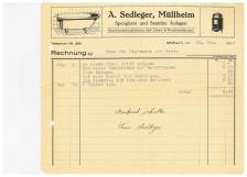 Rechnung, Sedleger Spenglerei, 1930