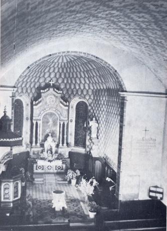 Innenansicht der Kirche Muellheim vor 1978
