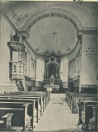 Inneres der Kirche auf einer Postkarte von 1905