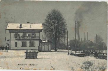 Bahnhof und Zemetfabrik