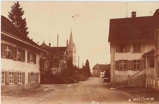 Kreuzlingerstrasse 38, Blick Richtung Kirche