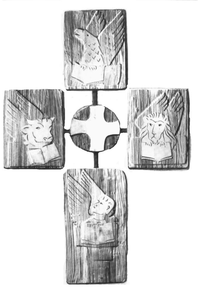 Wandkreuz im Chor, bearbeitet